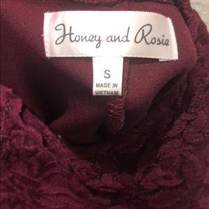 Honey and Rosie Dresses - Maroon dress